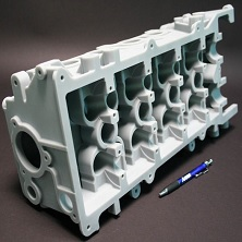 SLS engine block dark grey